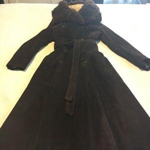 Vintage Jackets & Coats - Vintage 1970's Brown Suede Shearling
